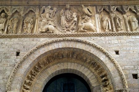 Romanesque Pantocrator in the Church of Santiago in Carrion de los Condes, Palencia province, Castilla y Leon, Spain