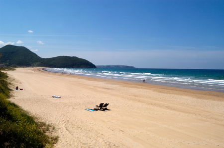 beach of San Martin, Santoña, Cantabria, Spain,