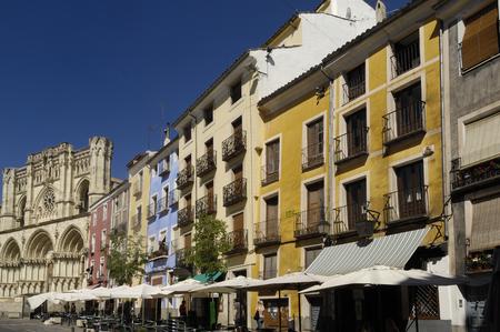 mancha: Cathedral and main square, Cuenca, Castilla La Mancha, Spain