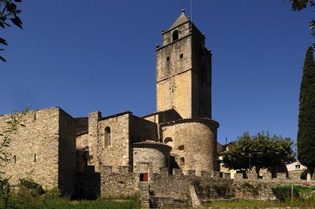 Church of Sant Llorenç de la Muga, Alt Emporda, Girona province, Catalonia, Spain