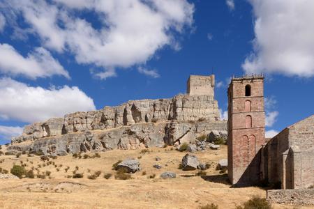 cid: Homenaje tower of  Castle Atienza, medieval fortress of the twelfth century (Route of Cid and Don Quixote) Guadalajara province, Castilla-La Mancha, Spain.