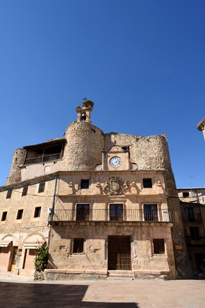 Castle Fernan Gonzalez, El Trigo square, Sepulveda, Segovia province. Castile-Leon, Spain