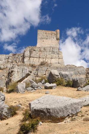 mancha: Castle,(Route of Cid and  Don Quixote), Atienza,Guadalajara, province, Castilla-La Mancha, Spain,