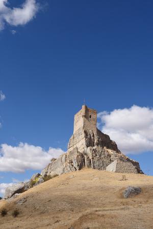 don quijote: Castle,(Route of Cid and  Don Quixote), Atienza,Guadalajara, province, Castilla-La Mancha, Spain,