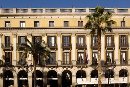 Reial square in Barcelona