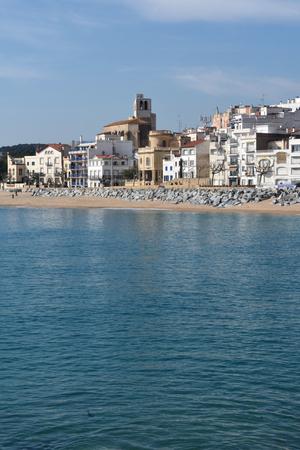 Village of Sant Pol de Mar in Barcelona province, Catalonia, Spain