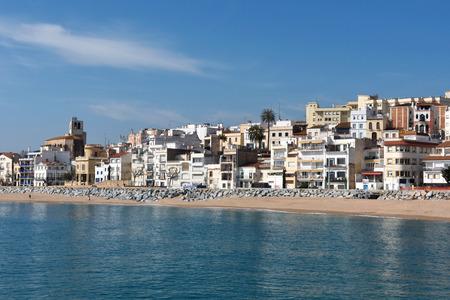 Village of Sant Pol de Mar in Barcelona province, Catalonia, Spain Stock fotó