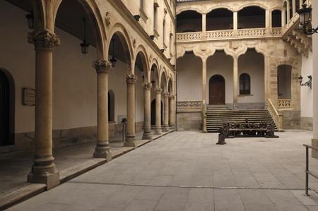 Cloister at the Palace of La Salina, Diputacion, Salamanca, Castilla y Leon, Spain