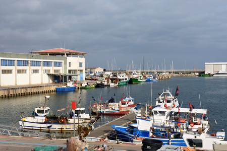 Fishing port of Canet de Mar, El Maresme, Barcelona province, Catalonia, Spain