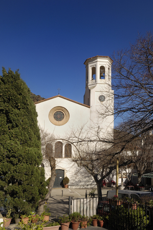 selva: Sant Esteve church, La Selva de Mar, Alt Emporda, Girona province, Catalonia, Spain Stock Photo