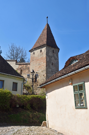 Tower of the entrance of Sighisoara,transylvania, Romania
