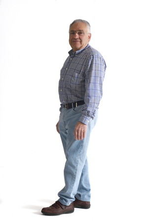 70 75: Portrait of a mature man full body