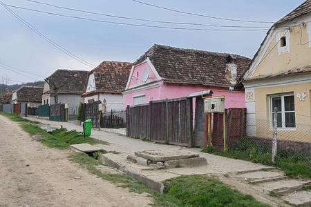biertan: houses of medieval village of Biertan,Transylvania, Romania
