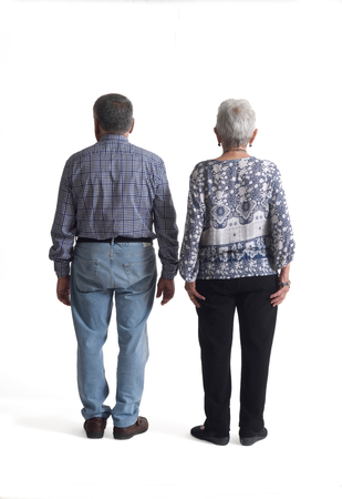 70 75: Portrait of a couple full body,rear view