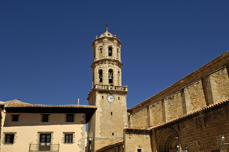 La Asuncion church, Mosqueruela, Teruel province, Aragon, Spain