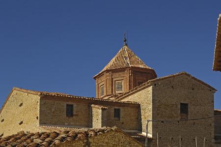La Asuncion churh in Catavieja, Maestrazgo, Teruel province, Spain