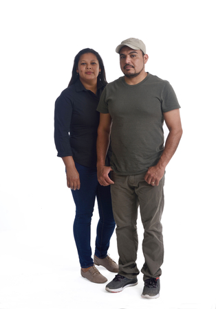 portrait of a latinamerica couple on white