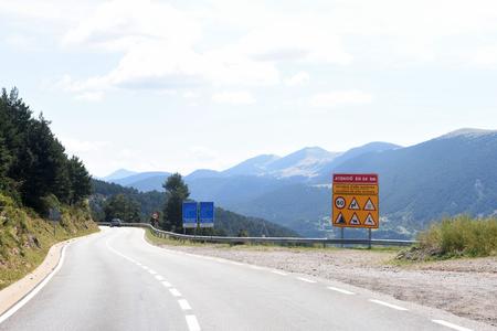 tosses: Mountain road la Collada de Tosses in Ripolles, Girona province, Catalonia,Spain Stock Photo