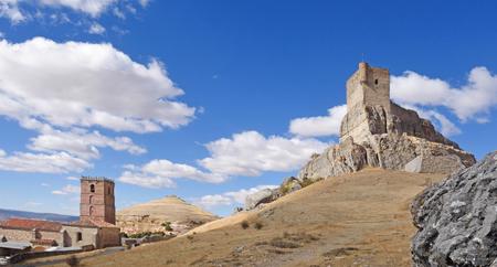 Castle and Santa Maria del Mar (Route of Cid and  Don Quixote), Atienza,Guadalajara province, Castilla-La Mancha, Spain,
