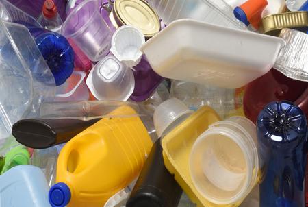 Recycling plastic Banco de Imagens