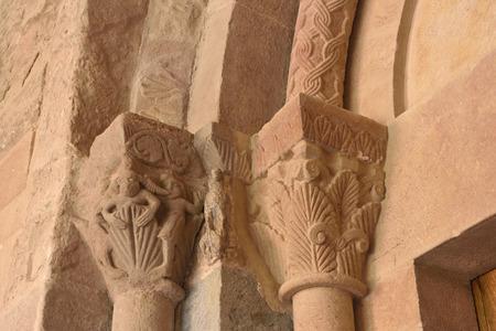 sant joan de les abadesses: Capitals romamesque of Sant Joan de les Abadesses monastery ; Ripolles; Girona province; Catalonia; Spain;