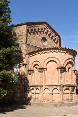 Abside of the romamesque monastery of Sant Joan de les Abadesses, Ripolles, Girona province, Catalonia, Spain