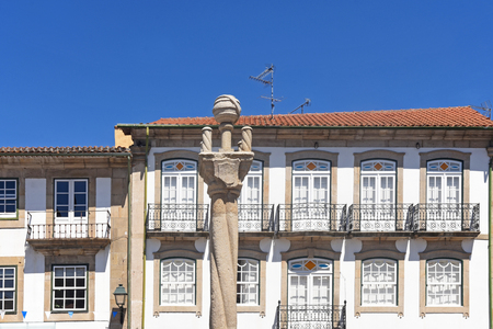 Historical market, District  of Vila Real, North of Portugal, Europe Stock Photo