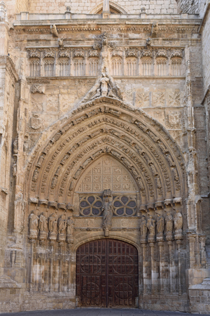 Meridional door of Catheral of Palencia, Castilla y Leon, Spain