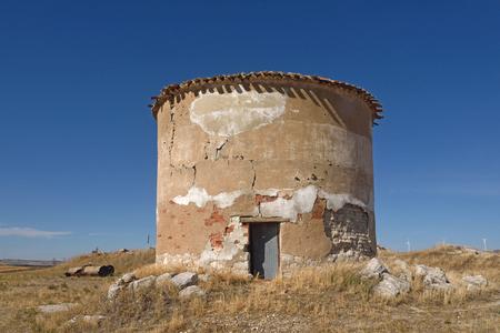 old dovecote in Villaviudas, Tierra de Campos, Palencia province,Castilla y Leon, Spain Stock Photo