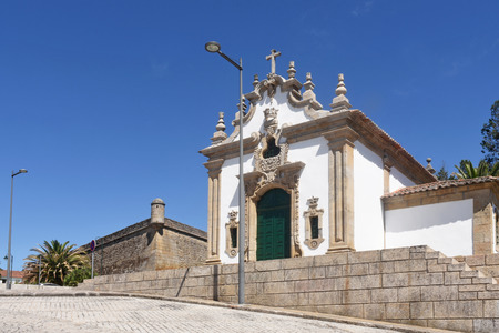 Chapel and fortress in Chaves, Portugal Stock Photo