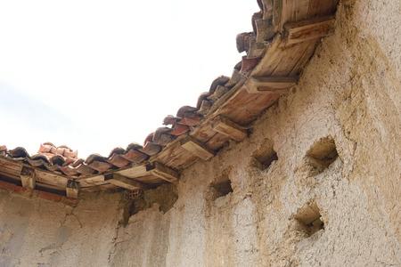 detail of old dovecote in Montealegre de Campos, Tierra de Campos region, Valladolid province, Castilla y Leon, Spain