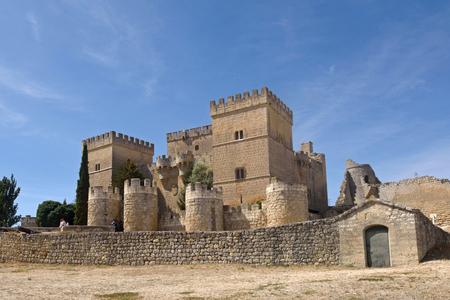 Castle of Ampudia,  Tierra de Campos region, Palencia province, Castilla y Leon, Spain Stock Photo
