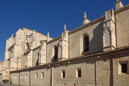 Rear facade of the cathedral of Palencia, Castilla y Leon, Spain (Los Reyes o San Juan Door)