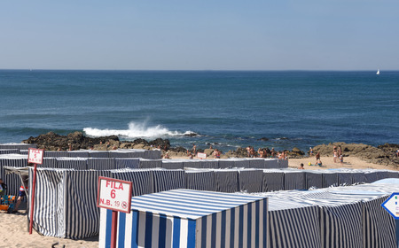Beach of Vila do Conde in Douro Region, Northern Portugal