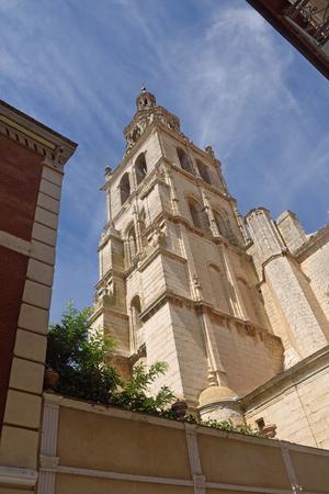 Santa Maria church of  Medina de Rioseco, Valladolid province, Castilla y Leon, Spain Stock Photo