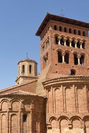 way of st james: Church of San Tirso in Sahagun, Way of St. James, Leon, Spain