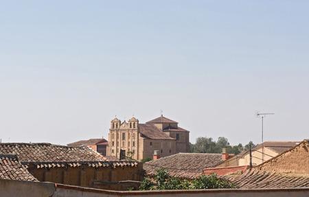 La Merced convent of Valdunquillo, Tierra de Campos, Valladolid province,Castilla y Leon, Spain Stock Photo