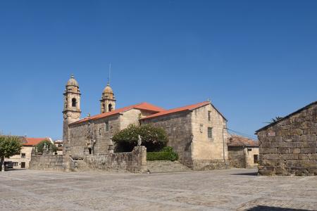 Church of San Benito, Fefinans square, Cambados, Pontevedra province, Galicia, Spain