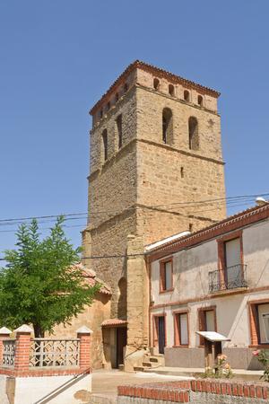 San Pedro church of Saelicies de Mayorga, Valladolid province, Castilla y Leon, Spain Stock Photo