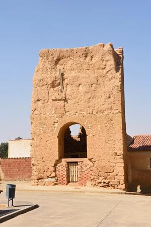 remains of San Pedro Church, Valdunquillo,Valladolid province, Castilla y Leon, Spain