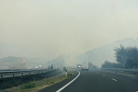 smoke on the road