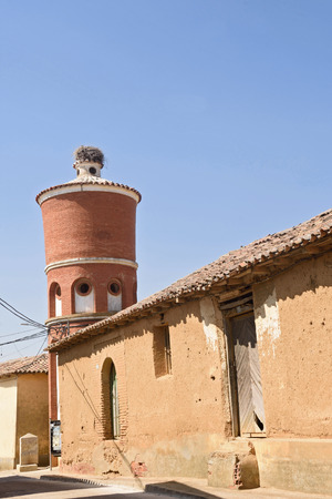 water tank  of Saelicies de Mayorga, Valladolid province, Castilla y Leon, Spain