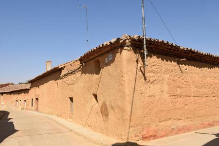 Traditional house of Valdunquillo, Tierra de Campos region, Valladolid province, Spain