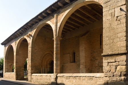 Portico of Romanesque church of Santa Maria, Carrion de los Condes, Spain