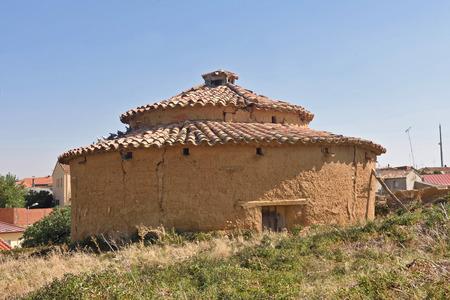 old dovecote in Valdunquillo, Tierra de Campos, Valladolid province,Castilla y Leon, Spain Stock Photo
