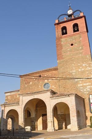 church of la Asuncion Osorna la Mayor, Tierra de Campos Region, Palencia province, Spain
