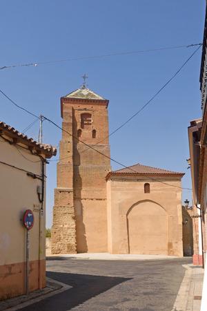 Santa Maria del Mercado chruch, Mayorga, Valladolid province, Castilla y Leon, Spain Stock Photo