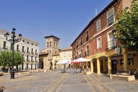 Square and Romanesque church of Satiago, Carrion de los Condes, Palencia province, Spain