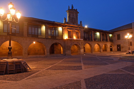 Main square of Santo Domingo de la Calzada, La Rioja, Spain Stock Photo