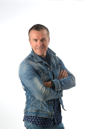 portrait of a man dressed in denim Stock Photo
